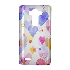 Watercolor cute hearts background LG G4 Hardshell Case