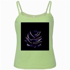 Rose Flower Design Nature Blossom Green Spaghetti Tank