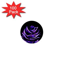 Rose Flower Design Nature Blossom 1  Mini Magnets (100 pack)