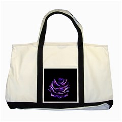 Rose Flower Design Nature Blossom Two Tone Tote Bag