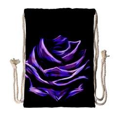 Rose Flower Design Nature Blossom Drawstring Bag (large)