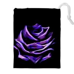 Rose Flower Design Nature Blossom Drawstring Pouches (xxl)