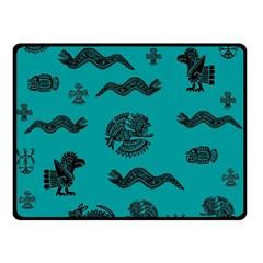 Aztecs pattern Double Sided Fleece Blanket (Small)