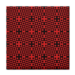 Abstract Background Red Black Tile Coasters