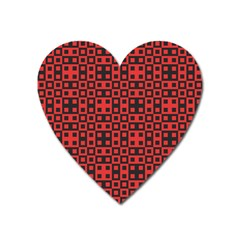 Abstract Background Red Black Heart Magnet