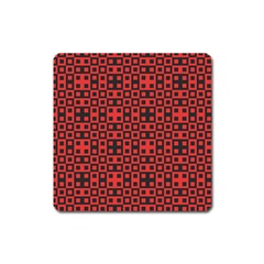 Abstract Background Red Black Square Magnet