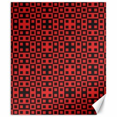 Abstract Background Red Black Canvas 20  x 24