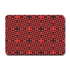 Abstract Background Red Black Small Doormat