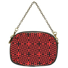 Abstract Background Red Black Chain Purses (Two Sides)