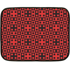 Abstract Background Red Black Double Sided Fleece Blanket (mini)