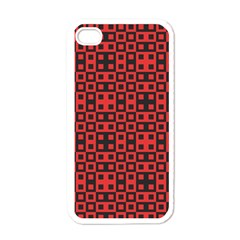 Abstract Background Red Black Apple Iphone 4 Case (white)