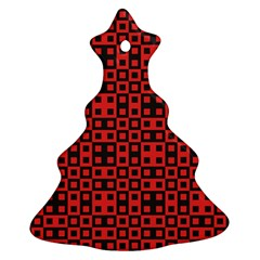Abstract Background Red Black Christmas Tree Ornament (Two Sides)