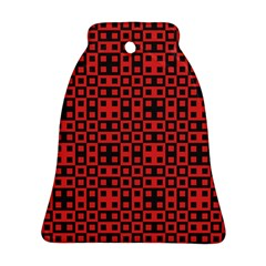 Abstract Background Red Black Bell Ornament (two Sides)