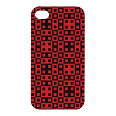 Abstract Background Red Black Apple Iphone 4/4s Hardshell Case
