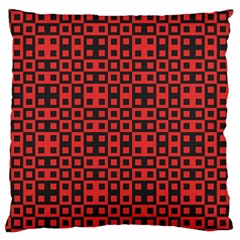 Abstract Background Red Black Large Cushion Case (two Sides)