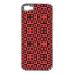 Abstract Background Red Black Apple Iphone 5 Case (silver)