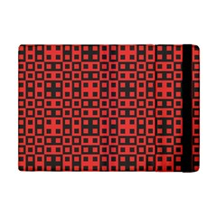 Abstract Background Red Black Apple Ipad Mini Flip Case