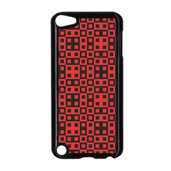 Abstract Background Red Black Apple iPod Touch 5 Case (Black)