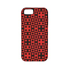 Abstract Background Red Black Apple Iphone 5 Classic Hardshell Case (pc+silicone)