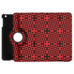 Abstract Background Red Black Apple iPad Mini Flip 360 Case