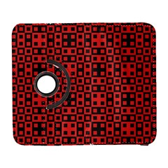 Abstract Background Red Black Galaxy S3 (flip/folio)