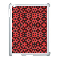 Abstract Background Red Black Apple Ipad 3/4 Case (white)