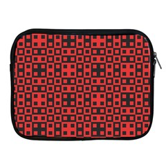 Abstract Background Red Black Apple Ipad 2/3/4 Zipper Cases