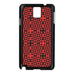 Abstract Background Red Black Samsung Galaxy Note 3 N9005 Case (black)