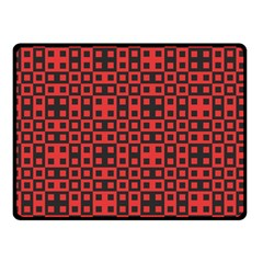 Abstract Background Red Black Double Sided Fleece Blanket (small)