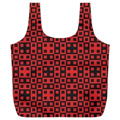 Abstract Background Red Black Full Print Recycle Bags (l)
