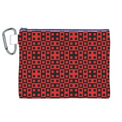 Abstract Background Red Black Canvas Cosmetic Bag (xl)
