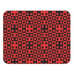 Abstract Background Red Black Double Sided Flano Blanket (large)