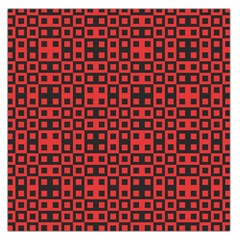 Abstract Background Red Black Large Satin Scarf (square)