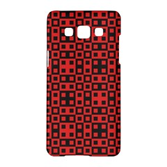 Abstract Background Red Black Samsung Galaxy A5 Hardshell Case