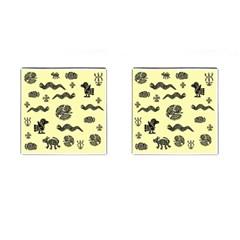 Aztecs Pattern Cufflinks (square)
