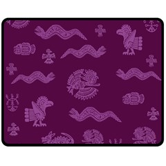 Aztecs pattern Double Sided Fleece Blanket (Medium)