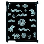 Aztecs pattern Apple iPad 2 Case (Black) Front