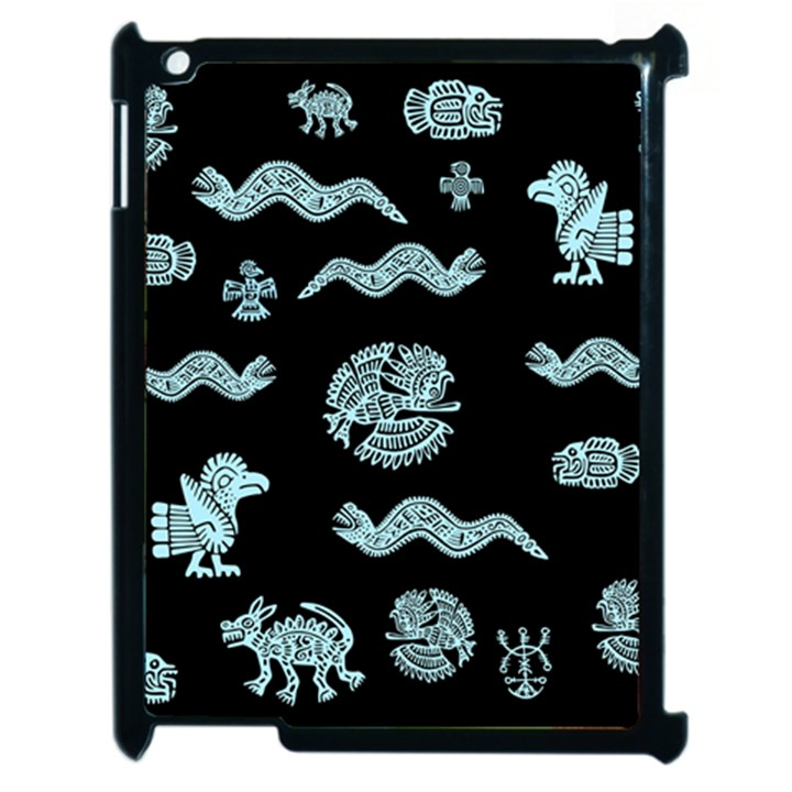 Aztecs pattern Apple iPad 2 Case (Black)