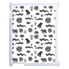 Aztecs Pattern Apple Ipad 2 Case (white)
