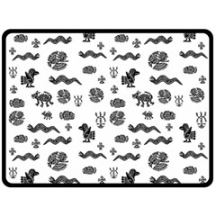 Aztecs pattern Double Sided Fleece Blanket (Large)