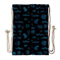 Aztecs Pattern Drawstring Bag (large)