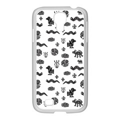 Aztecs pattern Samsung GALAXY S4 I9500/ I9505 Case (White)