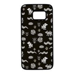 Aztecs Pattern Samsung Galaxy S7 Black Seamless Case