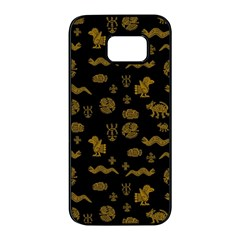 Aztecs Pattern Samsung Galaxy S7 Edge Black Seamless Case