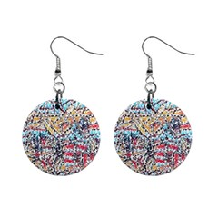 Colorful paint            1  Button Earrings