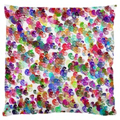 Colorful spirals on a white background       Standard Flano Cushion Case (Two Sides)