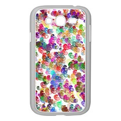 Colorful spirals on a white background       Samsung GALAXY S4 I9500/ I9505 Case (White)