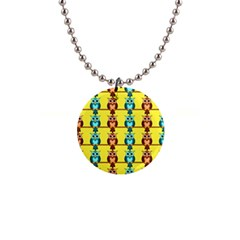 Owls pattern            1  Button Necklace