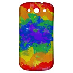 Colorful Paint Texture     Samsung Galaxy S Iii Flip 360 Case