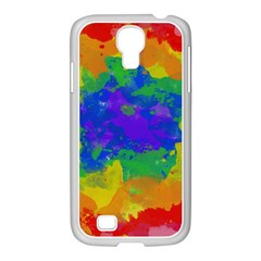 Colorful paint texture     Samsung Galaxy Note 2 Case (White)